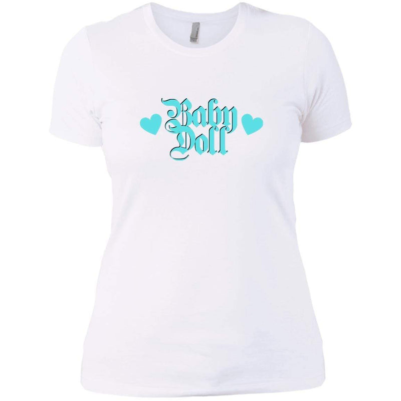 CustomCat T-Shirts White / X-Small Baby Doll Blue 829-8331-78264391-39618