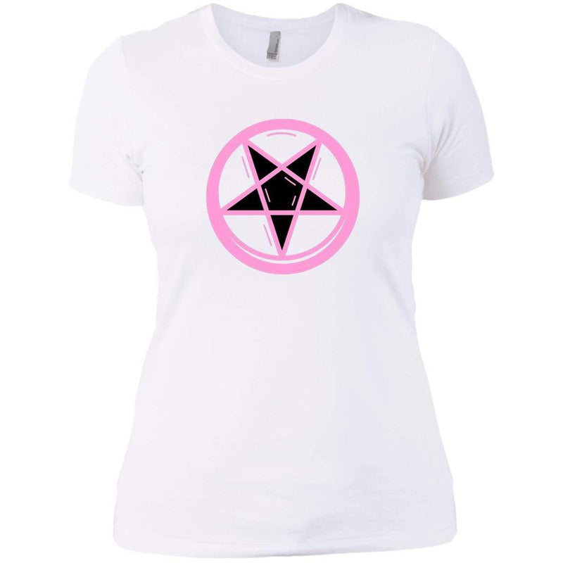 CustomCat T-Shirts White / X-Small Pink pentagram 829-8331-78264387-39618