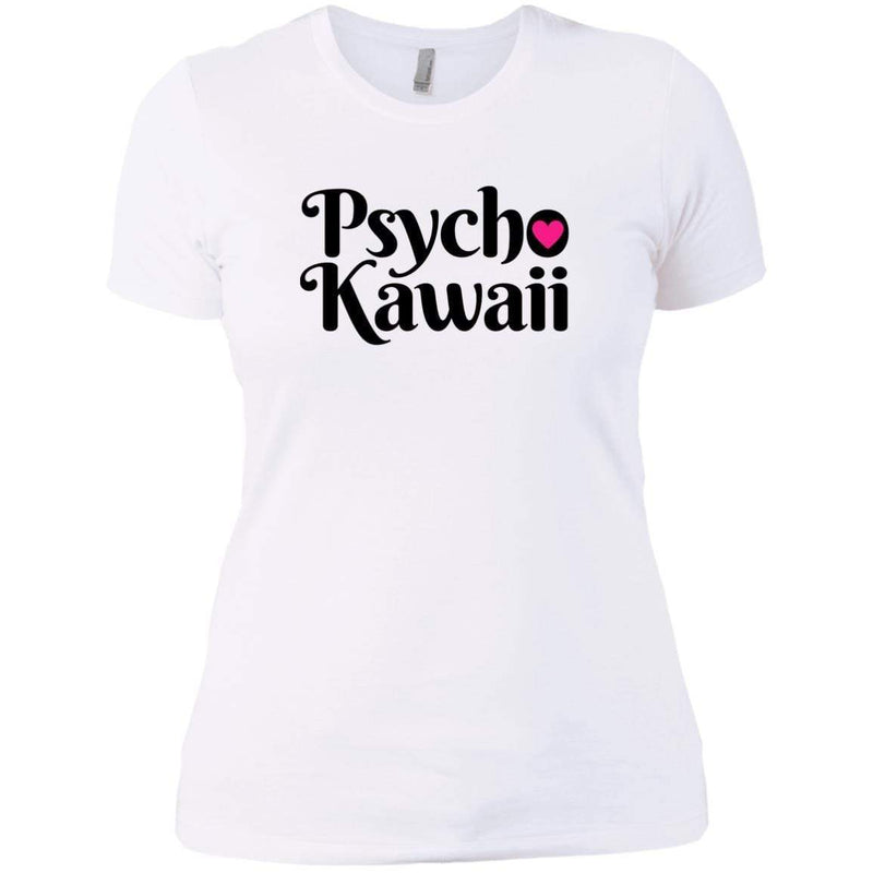 CustomCat T-Shirts White / X-Small Psycho Kawaii Black 829-8331-78264377-39618