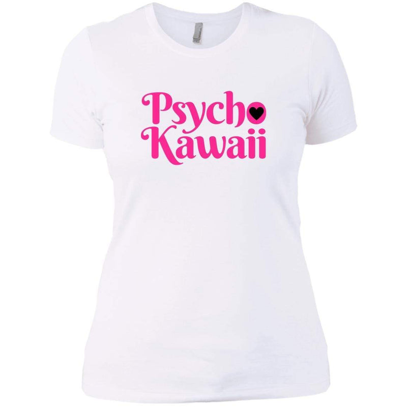 CustomCat T-Shirts White / X-Small Psycho Kawaii hot pink 829-8331-78264421-39618