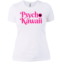 CustomCat T-Shirts White / X-Small The Psycho Kawaii Shirt Pink Print 829-8331-76708260-39618