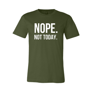 Print Melon Inc. T-Shirts XL / Olive nope not today melon 120142