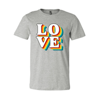 Print Melon Inc. T-Shirts XS / Athletic Heather love retro 247582