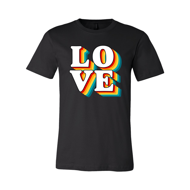 Print Melon Inc. T-Shirts XS / Black love retro 247580