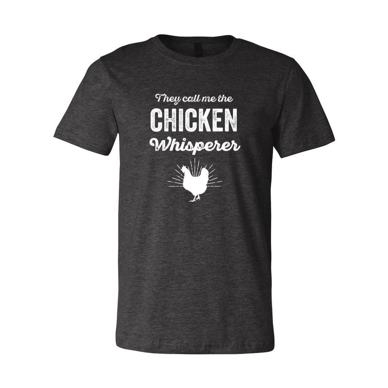 Print Melon Inc. T-Shirts XS / Dark Grey Heather chicken whisperer adult 422458