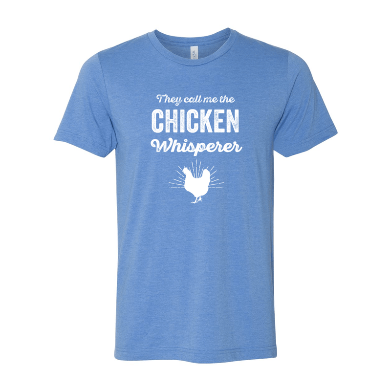 Print Melon Inc. T-Shirts XS / Heather Columbia Blue chicken whisperer adult 422459