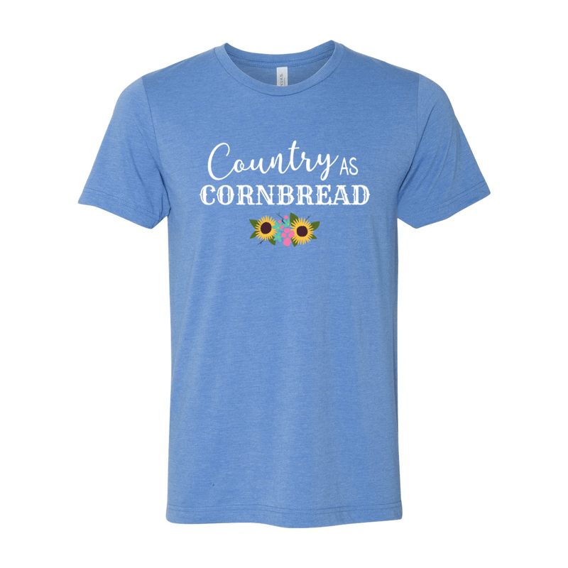 Print Melon Inc. T-Shirts XS / Heather Columbia Blue country cornbread 376034