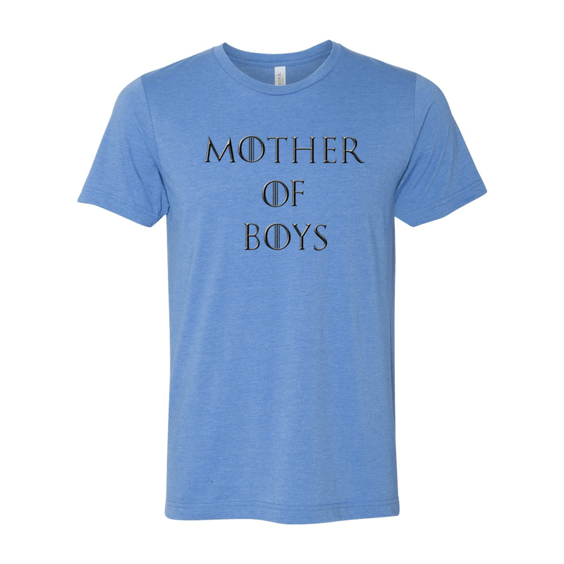 Print Melon Inc. T-Shirts XS / Heather Columbia Blue mother of boys 113948