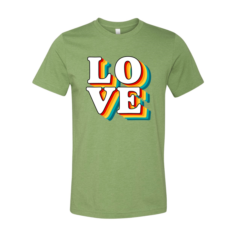Print Melon Inc. T-Shirts XS / Heather Green love retro 247578