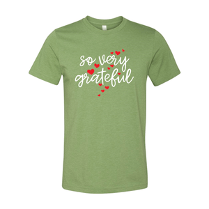 Print Melon Inc. T-Shirts XS / Heather Green so very grateful adult 372338
