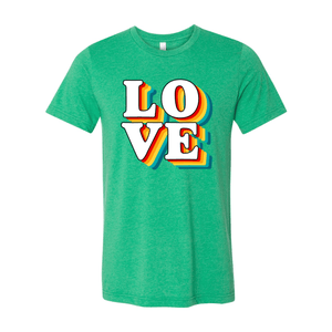 Print Melon Inc. T-Shirts XS / Heather Kelly love retro 247576