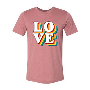 Print Melon Inc. T-Shirts XS / Heather Mauve love retro 247584