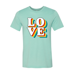 Print Melon Inc. T-Shirts XS / Heather Mint love retro 247577