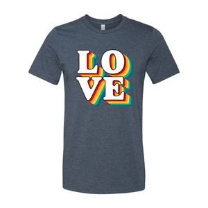 Print Melon Inc. T-Shirts XS / Heather Navy love retro 247586