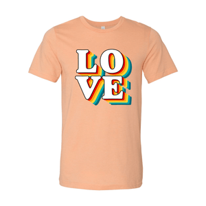 Print Melon Inc. T-Shirts XS / Heather Peach love retro 247585