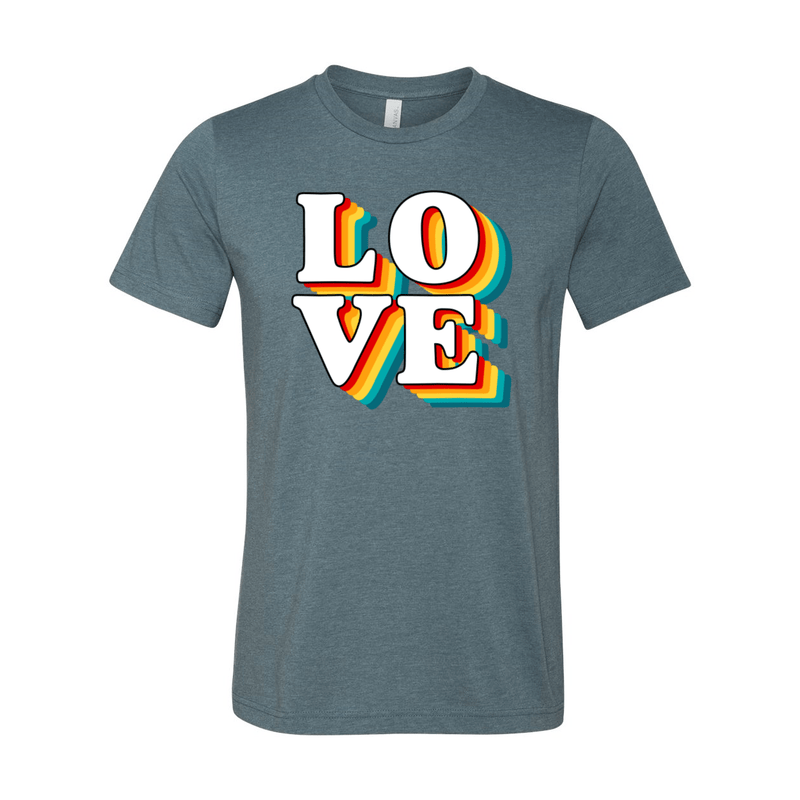 Print Melon Inc. T-Shirts XS / Heather Slate love retro 247581