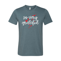 Print Melon Inc. T-Shirts XS / Heather Slate so very grateful adult 372335