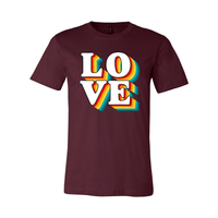 Print Melon Inc. T-Shirts XS / Maroon love retro 247579