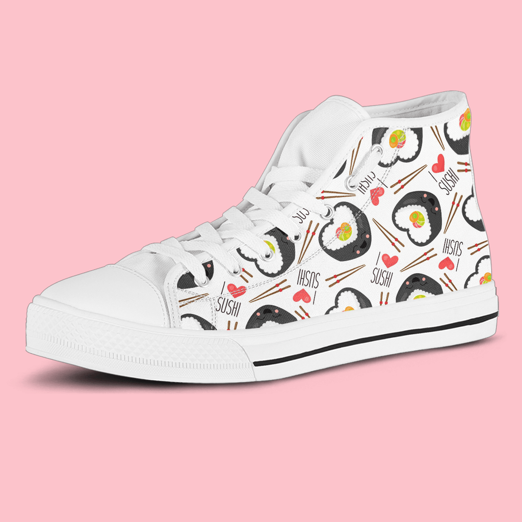 So Kawaii Shop The I Love Sushi High Top Sneaker