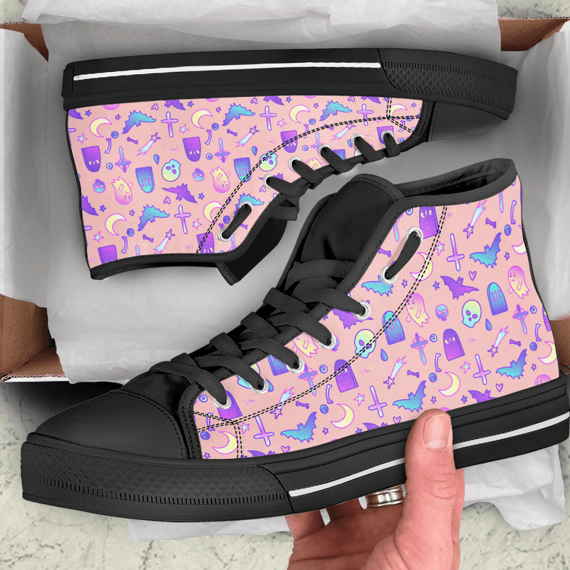 So Kawaii Shop The Kawaii Feeling a Little Batty Dark High Top Sneaker