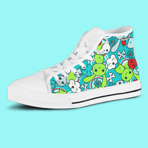 So Kawaii Shop The Kawaii Goth Bunny Electric Brights High Top Sneaker
