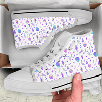 So Kawaii Shop The Kawaii Goth Skulls & Fishbones Sneaker