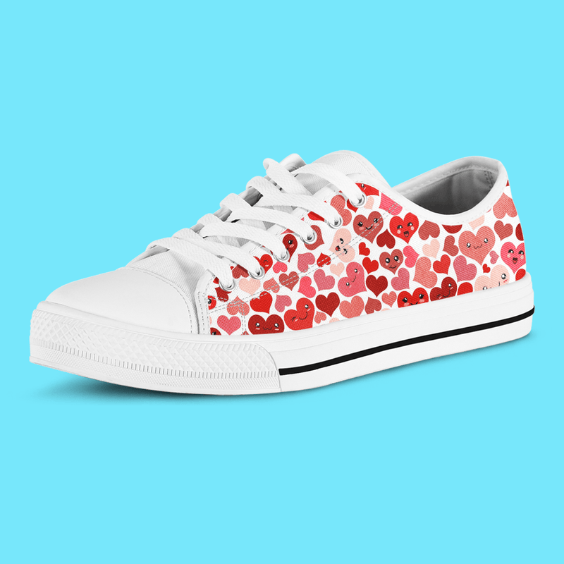 So Kawaii Shop The Kawaii Happy Hearts Low Sneaker