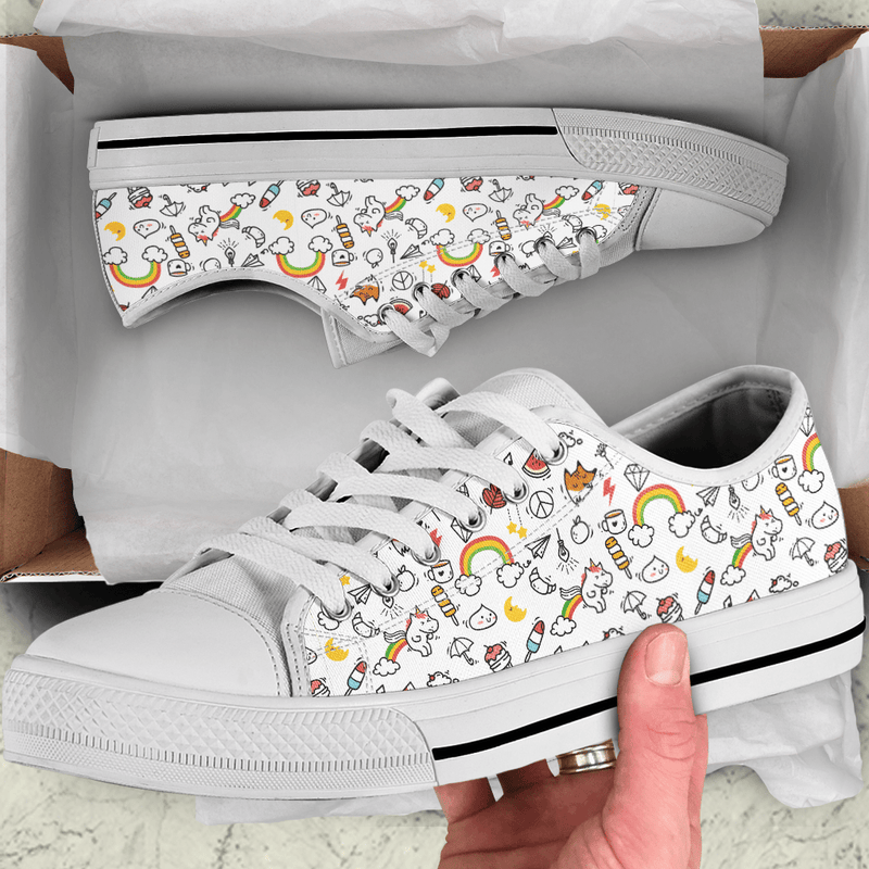 So Kawaii Shop The Kawaii Mini Doodle Low Sneaker