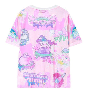 So Kawaii Shop The Kawaii Pastel Goth Bear T-shirt