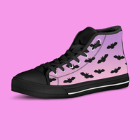 So Kawaii Shop The Kawaii Pastel Goth Black Bats High Top Sneaker