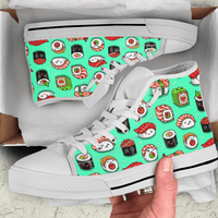 So Kawaii Shop The Kawaii Sushi Print in Mint High Top Sneaker