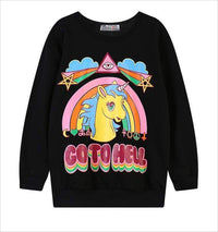 So Kawaii Shop The Kawaii Unicorn Go to Hell Sweatshirt