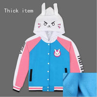 So Kawaii Shop Thick Material / S / D.VA Cosplay D.VA Cosplay Cotton Hoodies 2 styles Up to Plus Sizes! 17895127-thick-material-s-d-va-cosplay