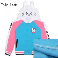 So Kawaii Shop Thin Material / S / D.VA Cosplay D.VA Cosplay Cotton Hoodies 2 styles Up to Plus Sizes! 17895127-thin-material-s-d-va-cosplay