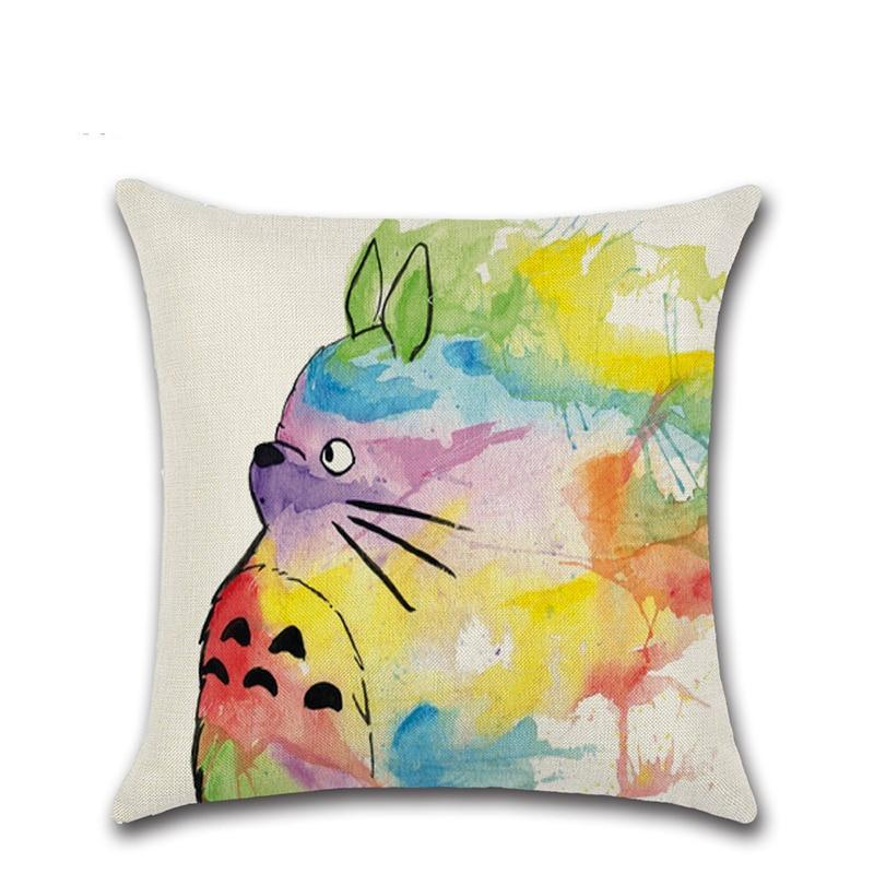 So Kawaii Shop Totoro Printed Throw Pillow Cover