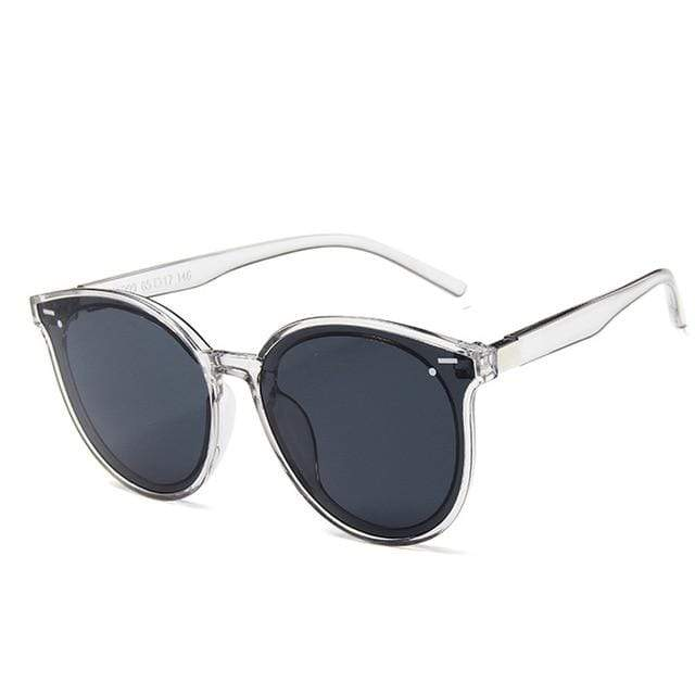 So Kawaii Shop Transparent Grey 2019 New Classic Oval Sunglasses 24881335-transparent-grey