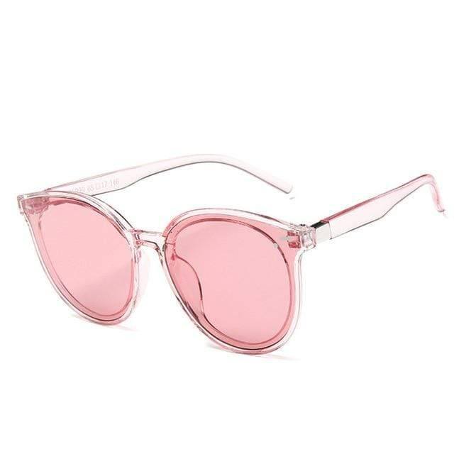 So Kawaii Shop Transparent Pink 2019 New Classic Oval Sunglasses 24881335-transparent-pink