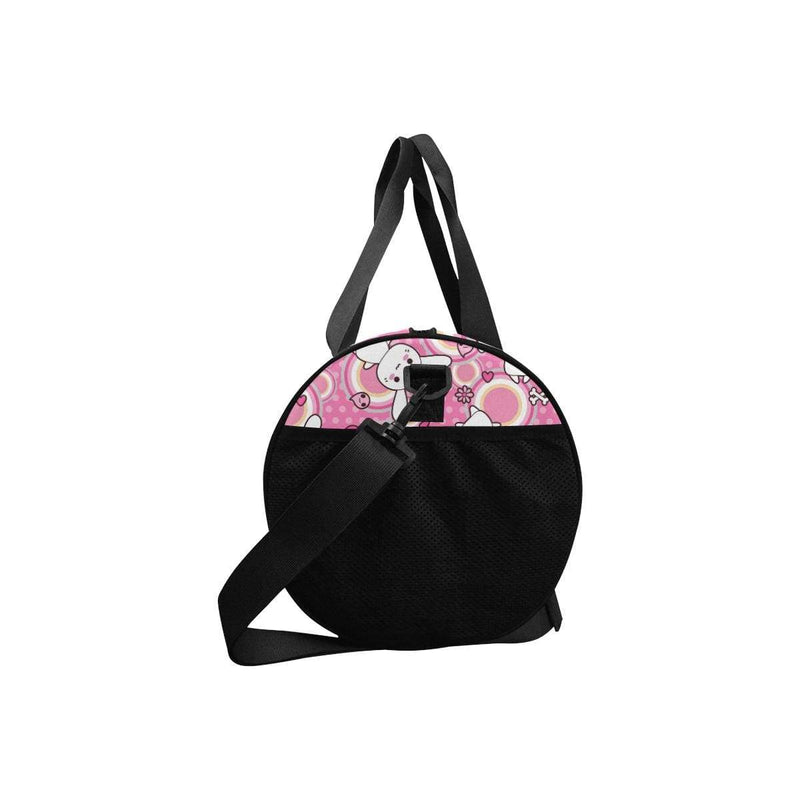 interestprint Travel Bags One Size Kawaii Goth Bunny Pink Circles Duffel D1317597