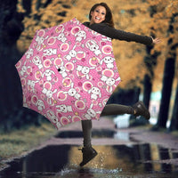 So Kawaii Shop Umbrella - Kawaii Goth Bunny Pink Circles Umbrella / One Size Kawaii Goth Bunny Pink Circles Umbrella PP.14289203