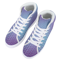 So Kawaii Shop Violet Blue Mermaid Platform Women's High Top Platform Shoes