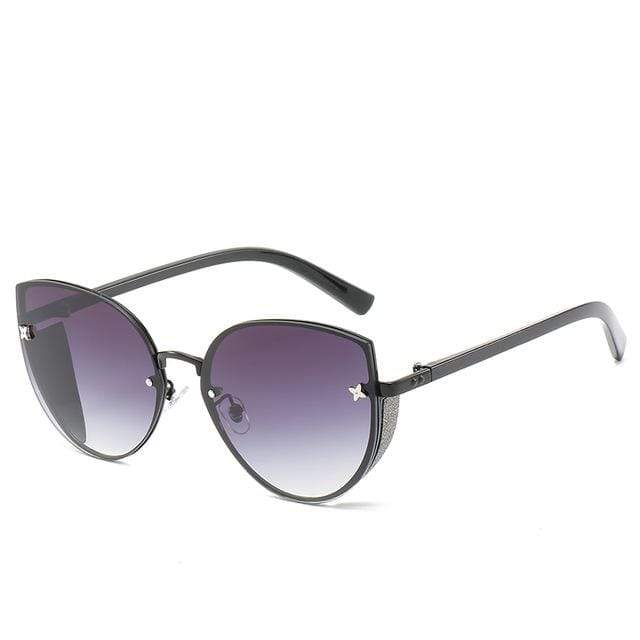 So Kawaii Shop violet to taupe The Cute Vintage Cat Eye Sunglasses 24657442-1