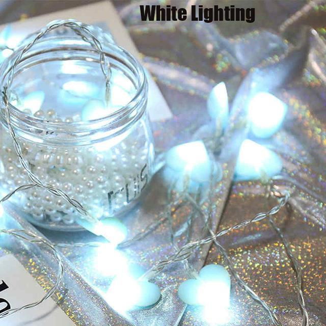 So Kawaii Shop white 1 / 1.5M 10LED Kawaii Pastel Love Heart LED String Fairy Lights 18731321-white-1-1-5m-10led