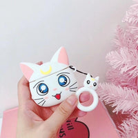 So Kawaii Shop White Cat Kawaii Sailor Moon/Luna Cat Cases For Apple Airpods 28067909-white-cat