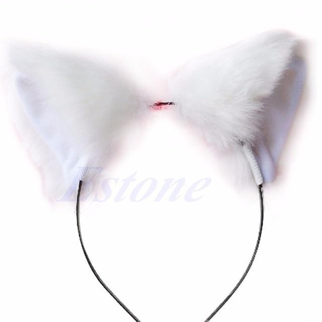 So Kawaii Shop WHITE Kawaii Cat Ears Headband 7629388-white