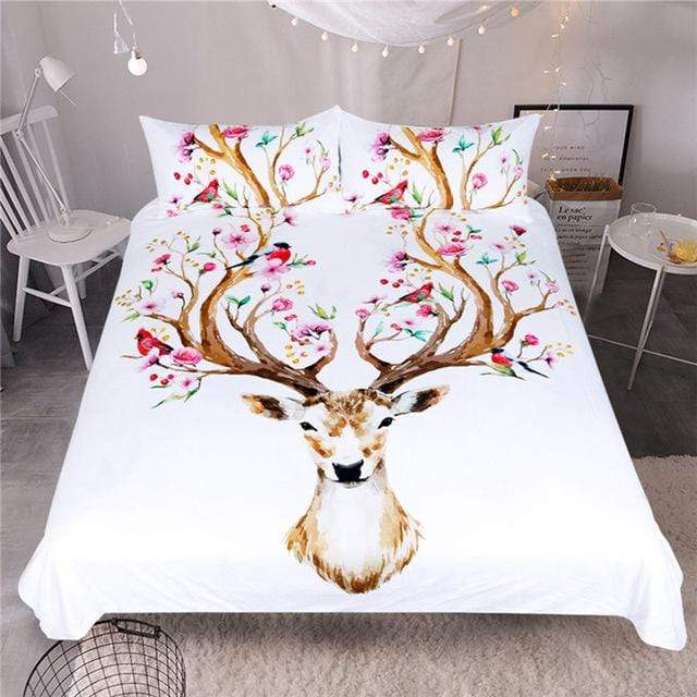 So Kawaii Shop WHITE / US Twin Super Sweet Elk Bedding Set 10573120-white-us-twin