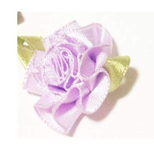 So Kawaii Shop White w Purple Flowe Harajuku Kawaii Rose Spiked Choker with lead clip 3129560-white-w-purple-flowe