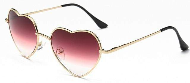 So Kawaii Shop wine to gold Oversized Heart Sunglasses FREE SHIPPING! 20139639-c2