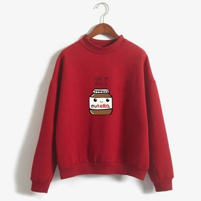 So Kawaii Shop wine / XL You Are My Nutella Kawaii Sweatshirt 16200743-wine-xl