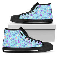So Kawaii Shop Womens High Top - Black - Batty Baby Blue / US5.5 (EU36) The Kawaii Feeling a Little Batty Dark High Top Sneaker PP.14233422