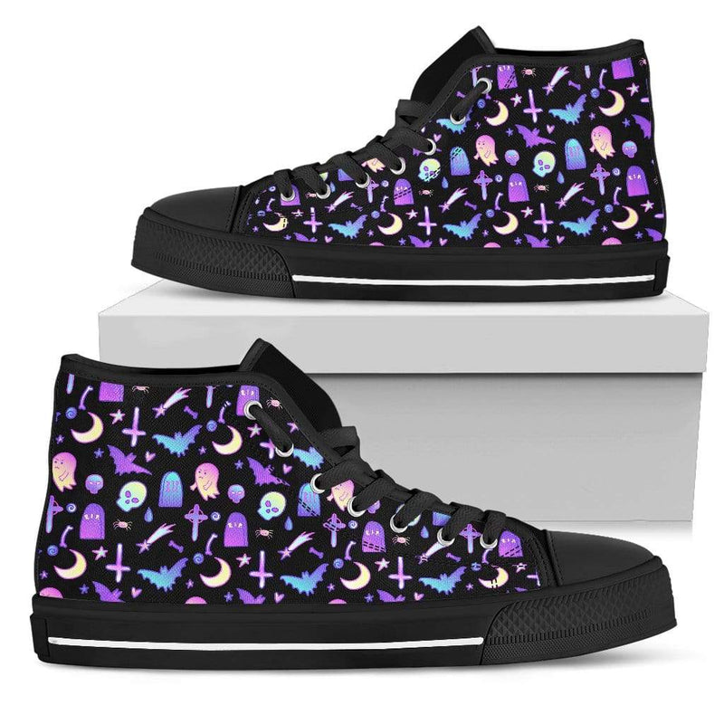 So Kawaii Shop Womens High Top - Black - Batty Black / US5.5 (EU36) The Kawaii Feeling a Little Batty Dark High Top Sneaker PP.14233413